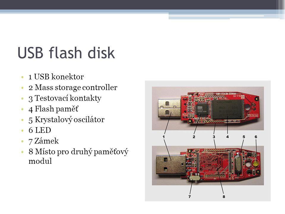 USB flash disk 1 USB konektor 2 Mass storage controller