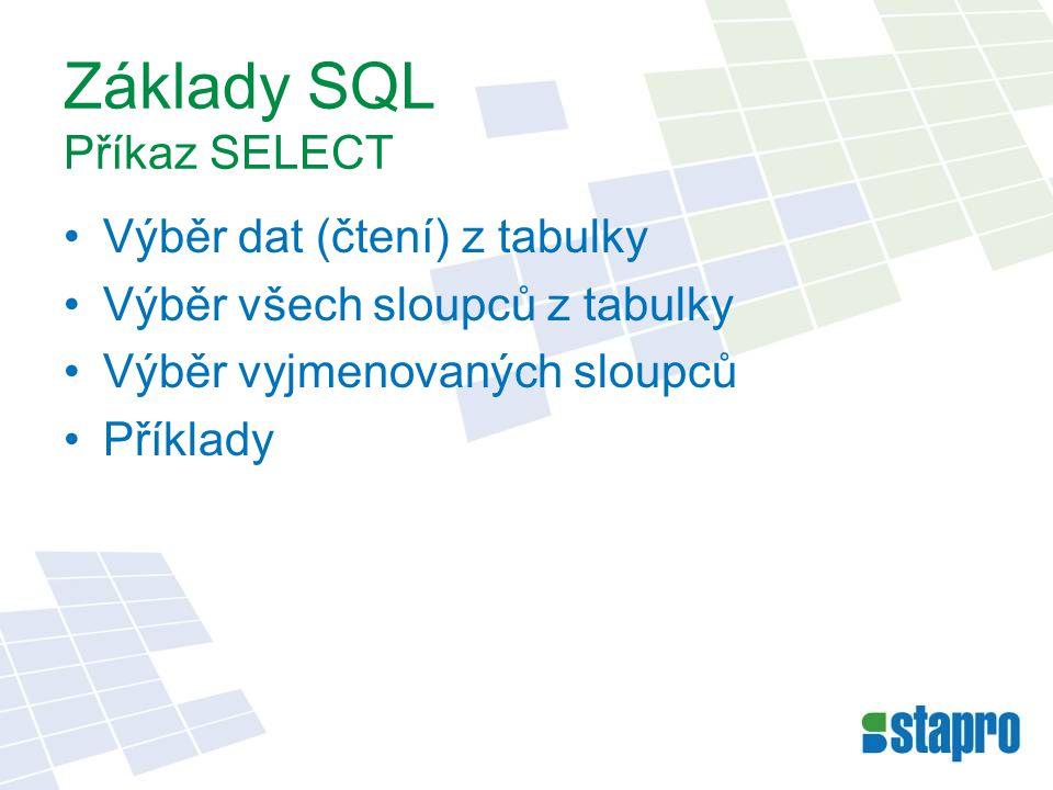 Základy SQL Příkaz SELECT