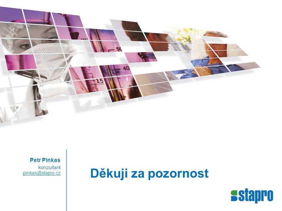 Petr Pinkas konzultant pinkas@stapro.cz Děkuji za pozornost