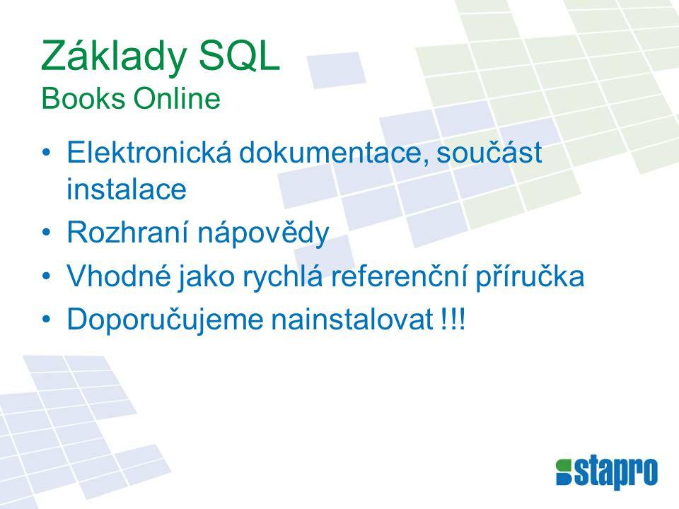 Základy SQL Books Online