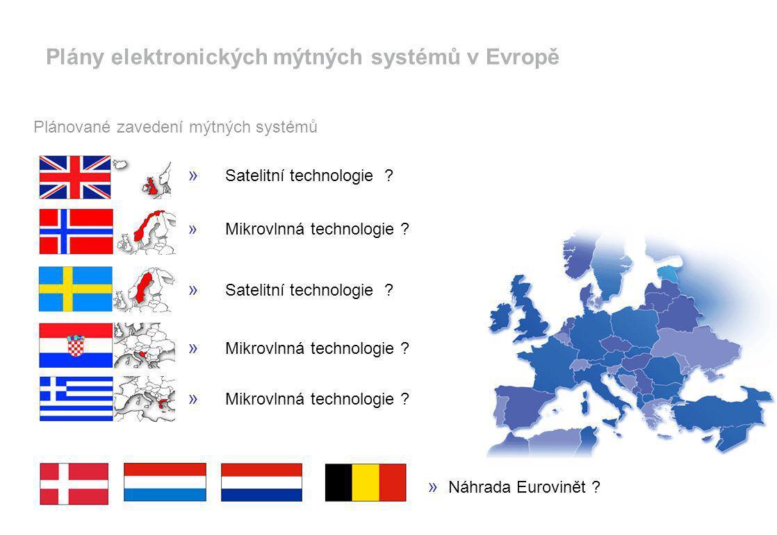 Plány elektronických mýtných systémů v Evropě