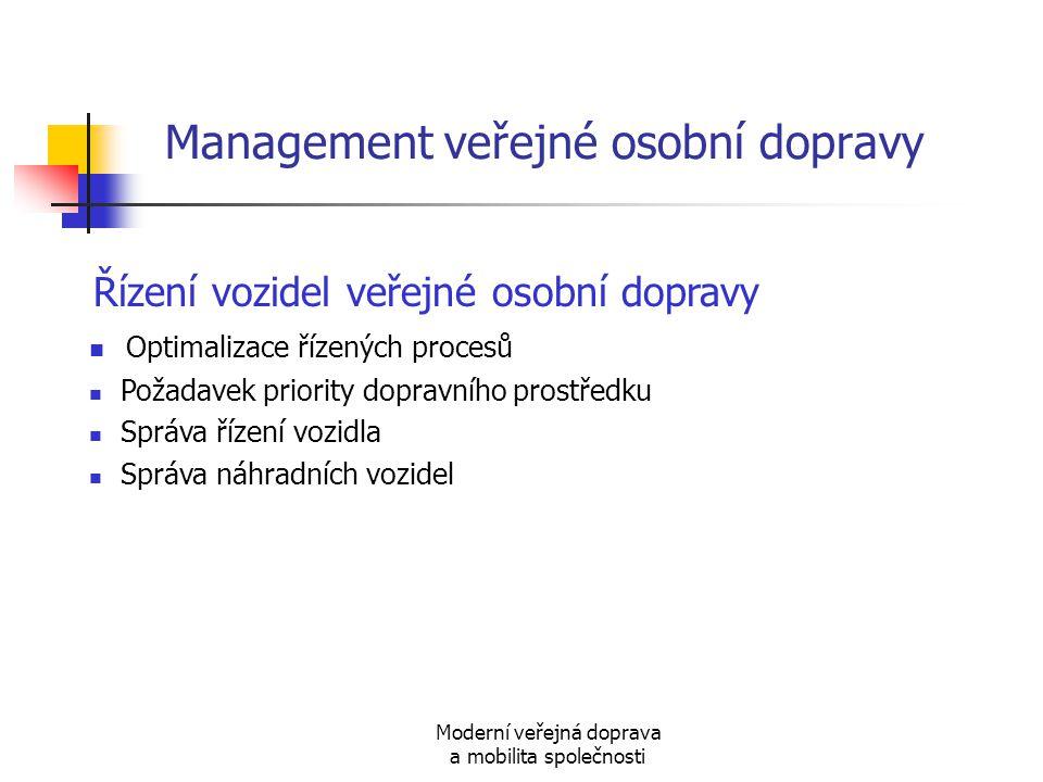 Management veřejné osobní dopravy