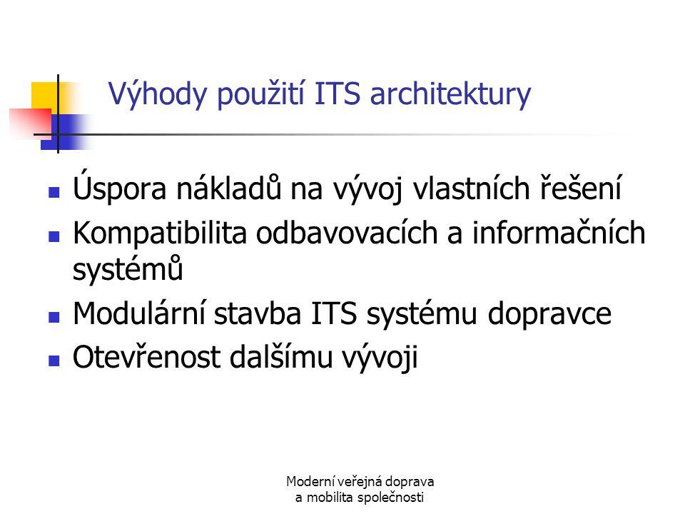 Výhody použití ITS architektury