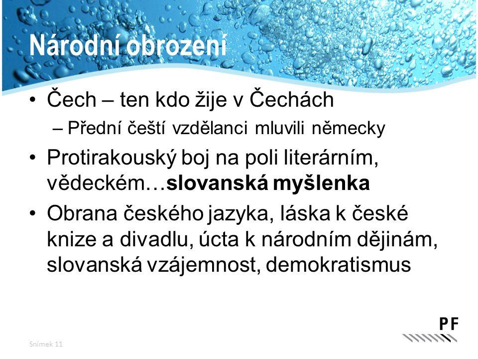 Národní obrození Čech – ten kdo žije v Čechách