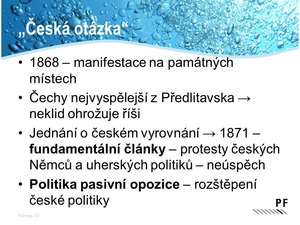 """""""Česká otázka 1868 – manifestace na památných místech"""