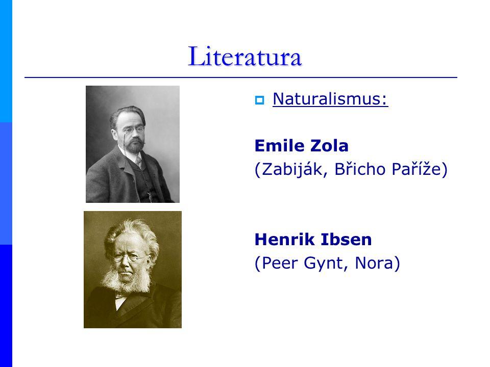 Literatura Naturalismus: Emile Zola (Zabiják, Břicho Paříže)