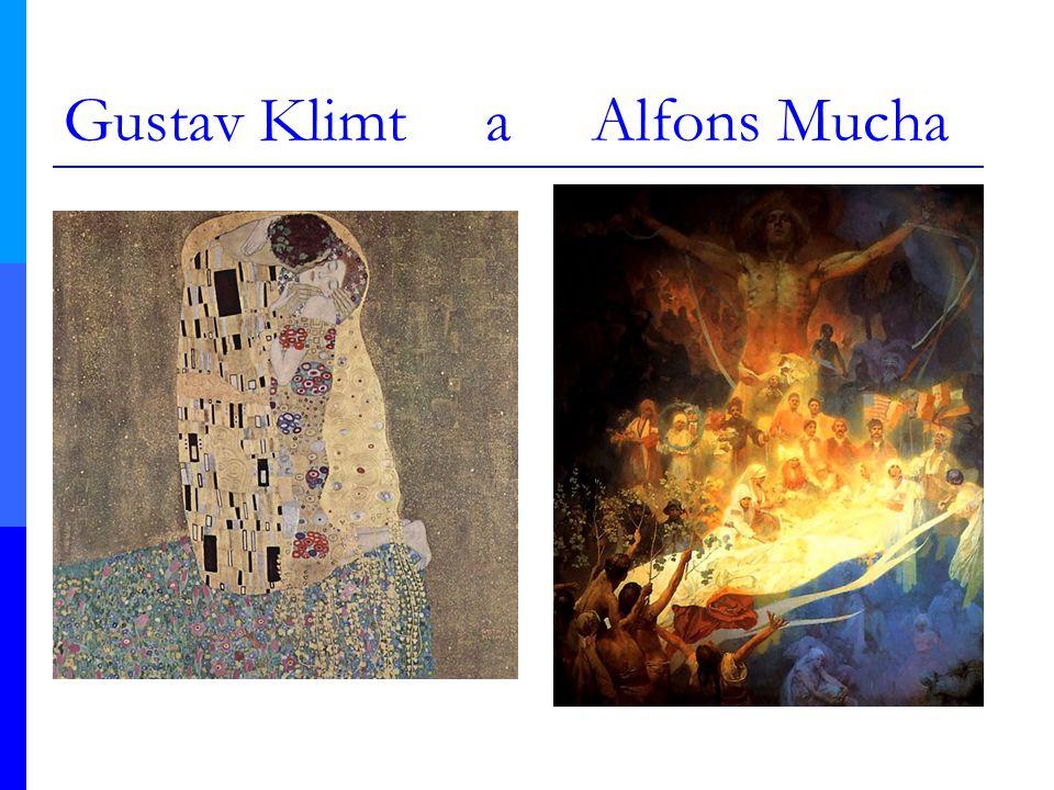 Gustav Klimt a Alfons Mucha