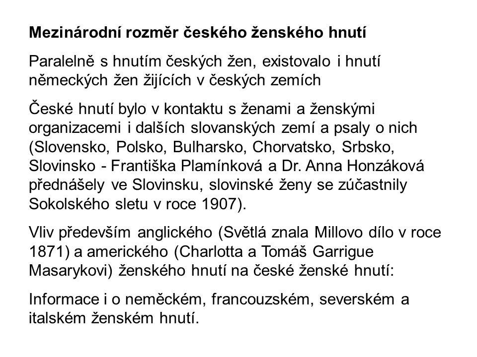Mezinárodní rozměr českého ženského hnutí