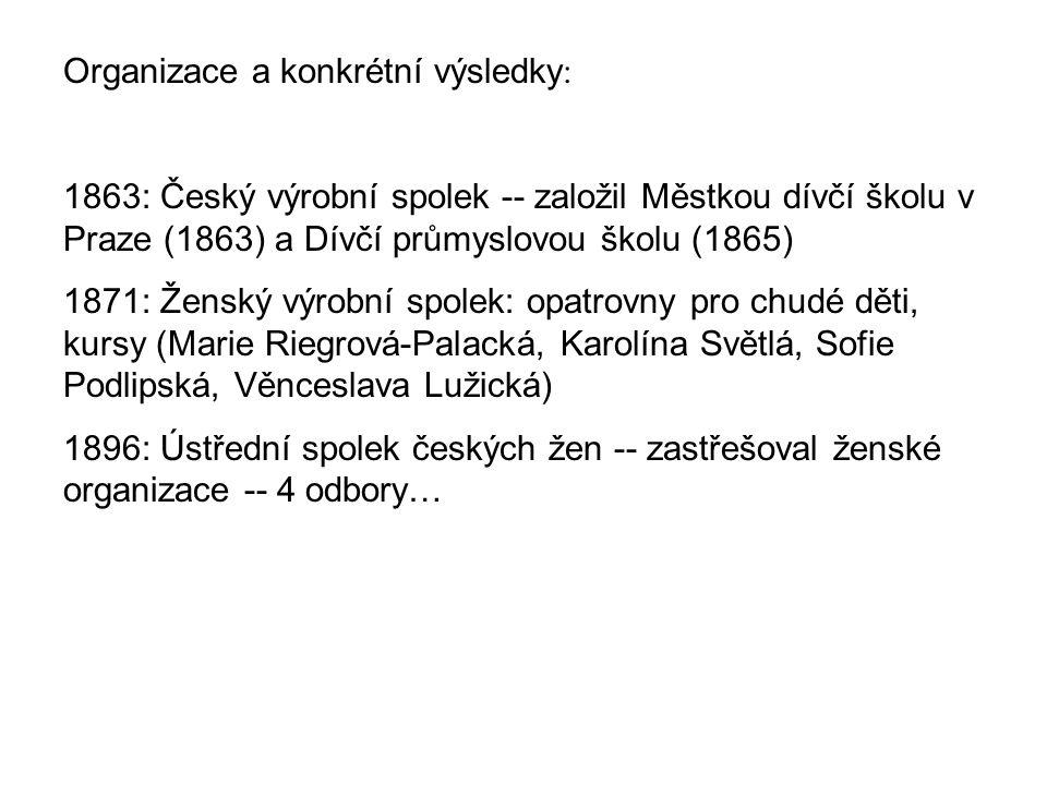 Organizace a konkrétní výsledky: