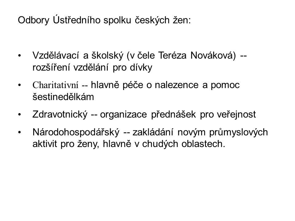 Odbory Ústředního spolku českých žen:
