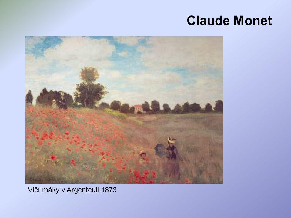 Claude Monet Vlčí máky v Argenteuil,1873