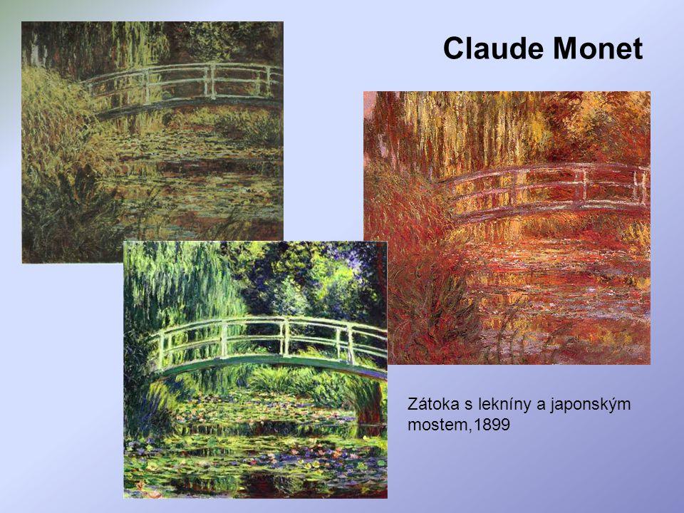 Claude Monet Zátoka s lekníny a japonským mostem,1899