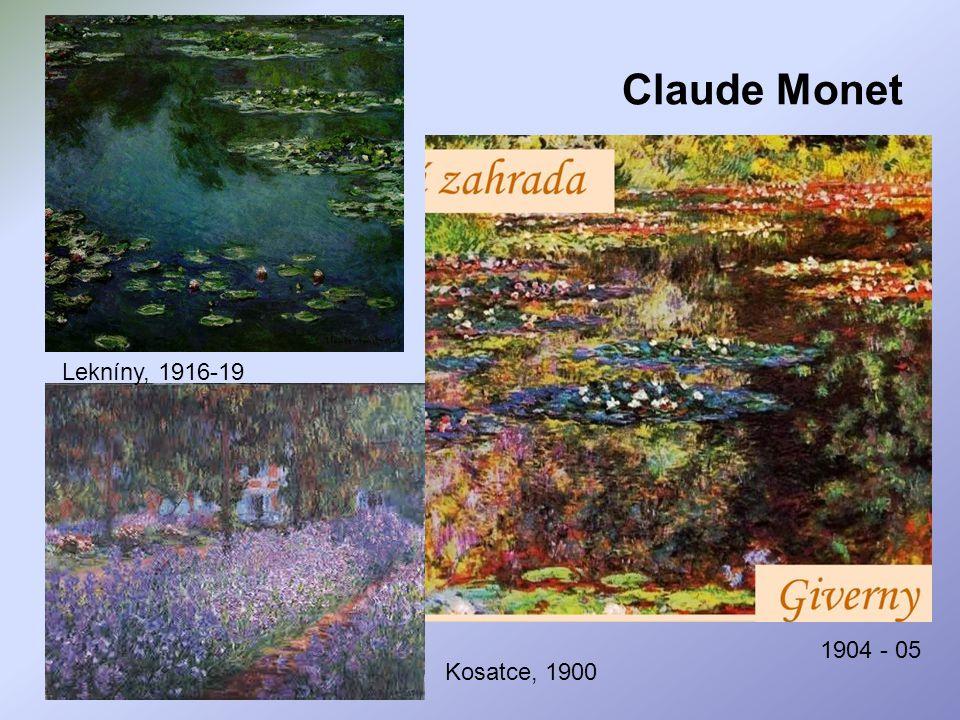 Claude Monet Lekníny, 1916-19 1904 - 05 Kosatce, 1900
