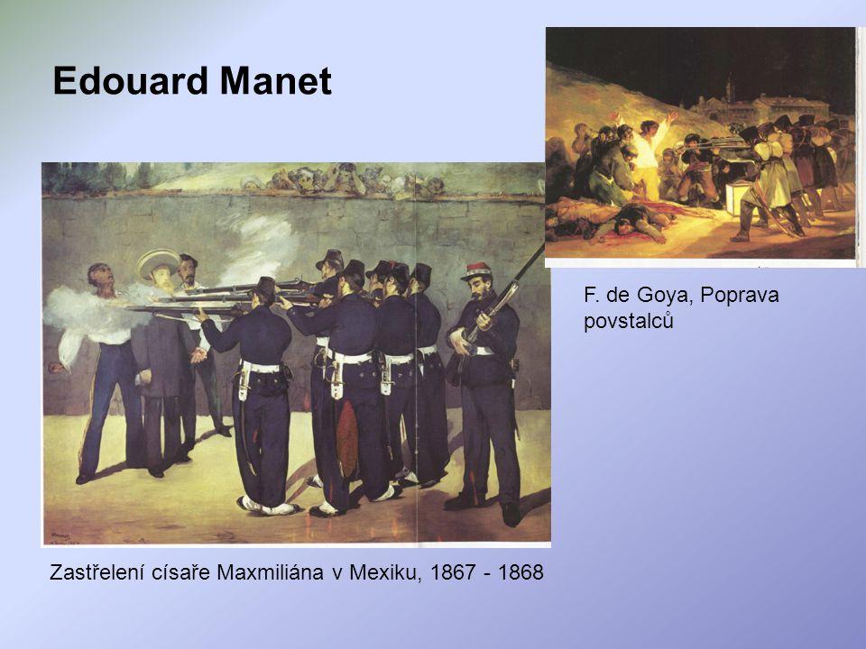 Edouard Manet F. de Goya, Poprava povstalců