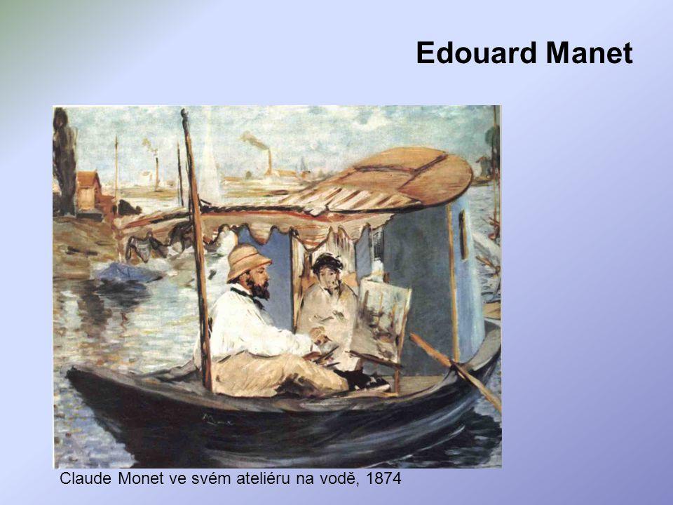 Edouard Manet Claude Monet ve svém ateliéru na vodě, 1874