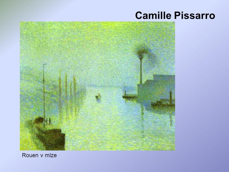 Camille Pissarro Rouen v mlze