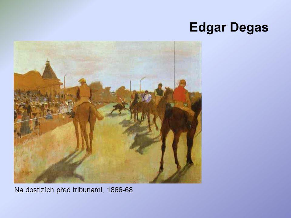 Edgar Degas Na dostizích před tribunami, 1866-68