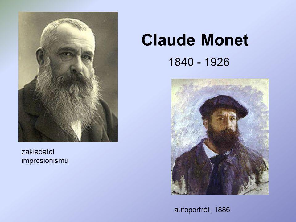 Claude Monet 1840 - 1926 zakladatel impresionismu autoportrét, 1886
