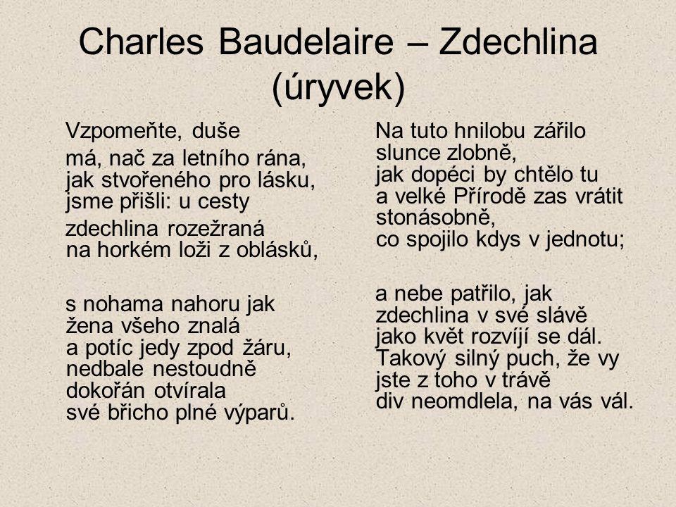 Charles Baudelaire – Zdechlina (úryvek)