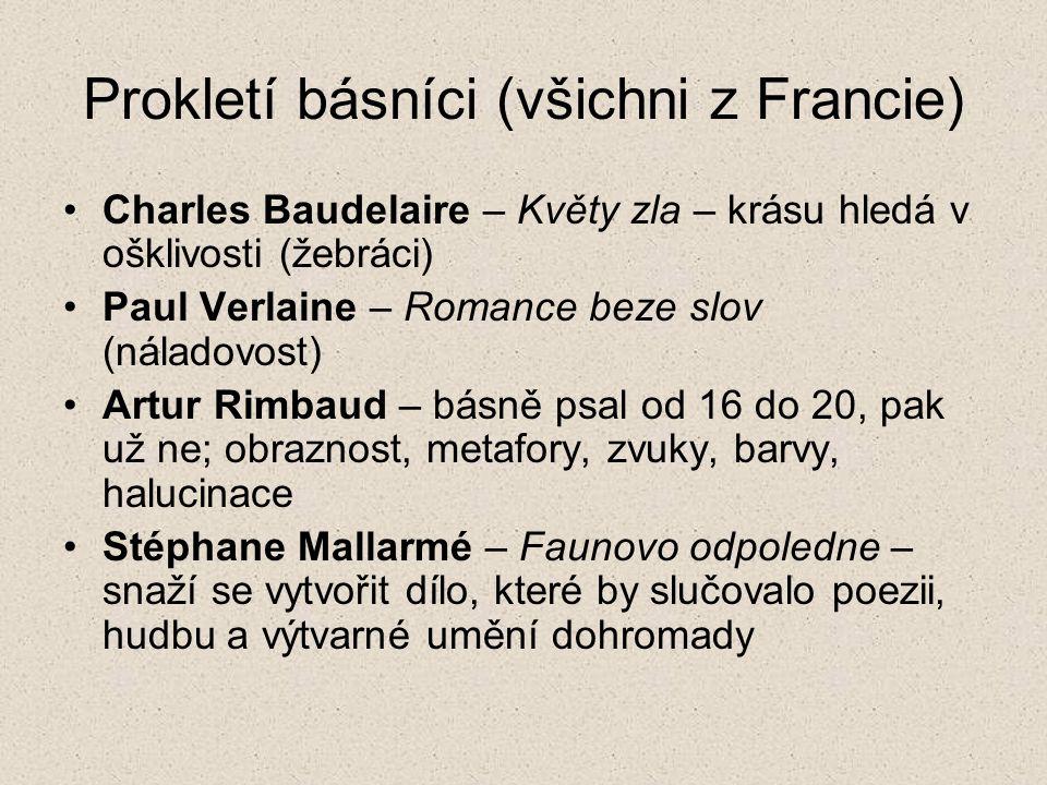 Prokletí básníci (všichni z Francie)