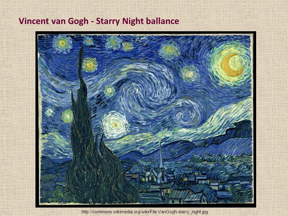 Vincent van Gogh - Starry Night ballance
