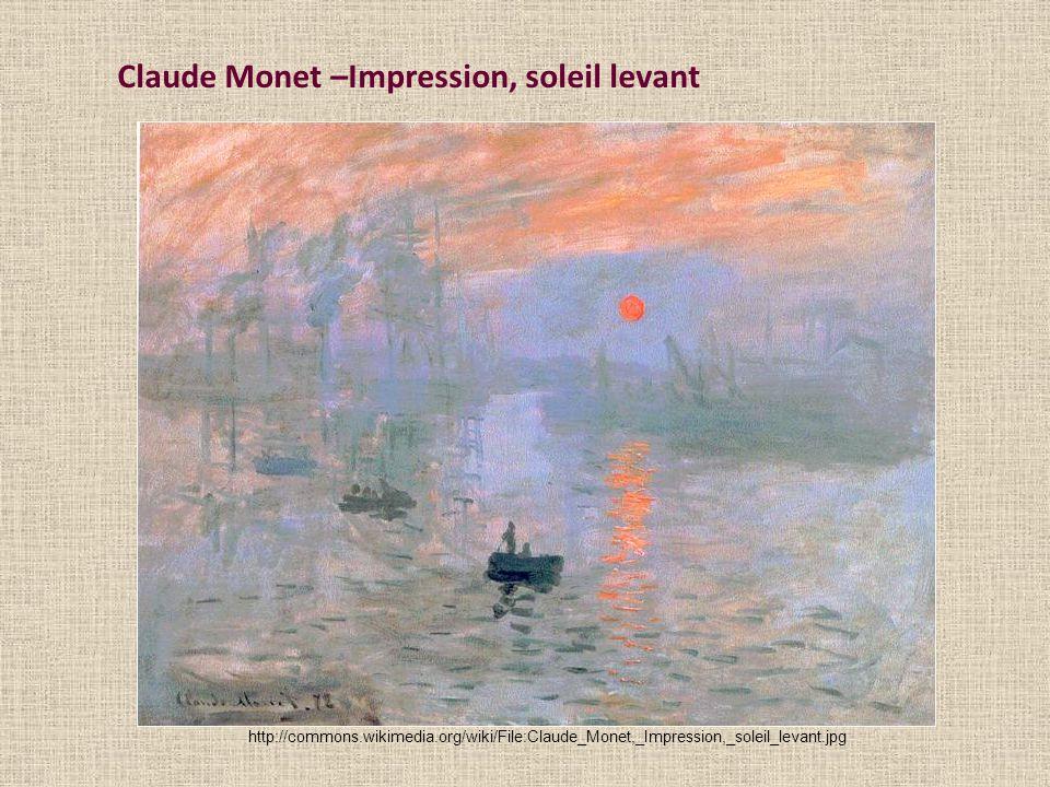 Claude Monet –Impression, soleil levant