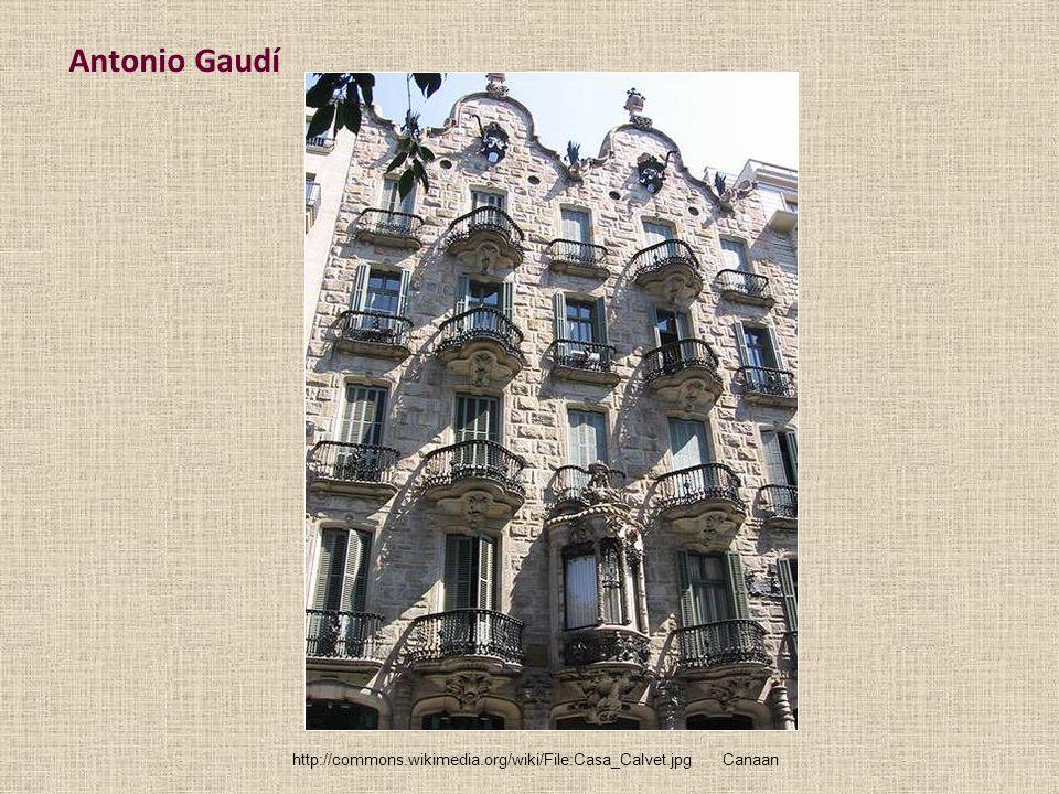 Antonio Gaudí http://commons.wikimedia.org/wiki/File:Casa_Calvet.jpg