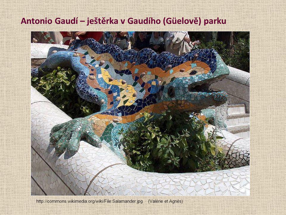 Antonio Gaudí – ještěrka v Gaudího (Güelově) parku