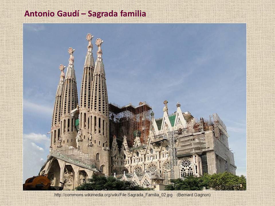 Antonio Gaudí – Sagrada familia
