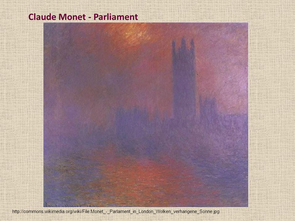 Claude Monet - Parliament
