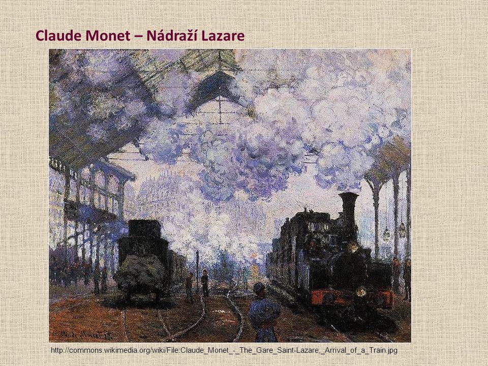 Claude Monet – Nádraží Lazare