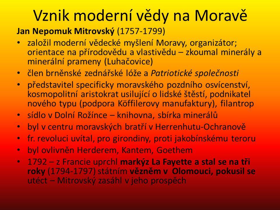 Vznik moderní vědy na Moravě