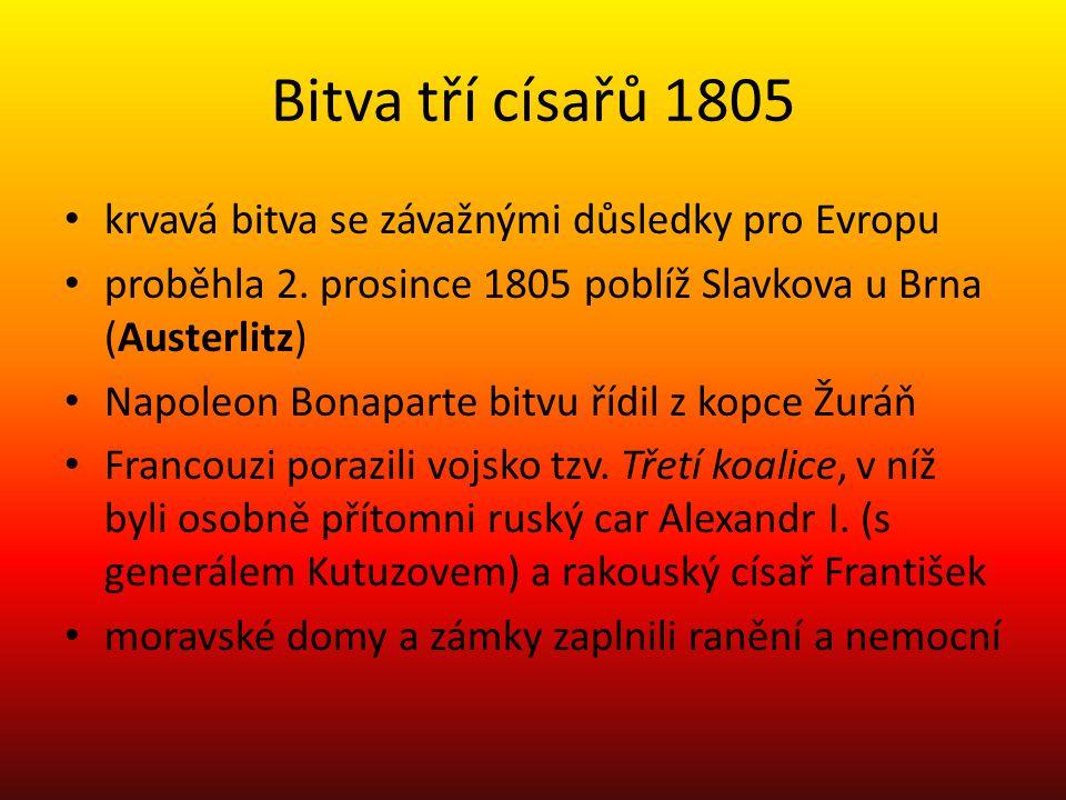 Bitva tří císařů 1805 krvavá bitva se závažnými důsledky pro Evropu