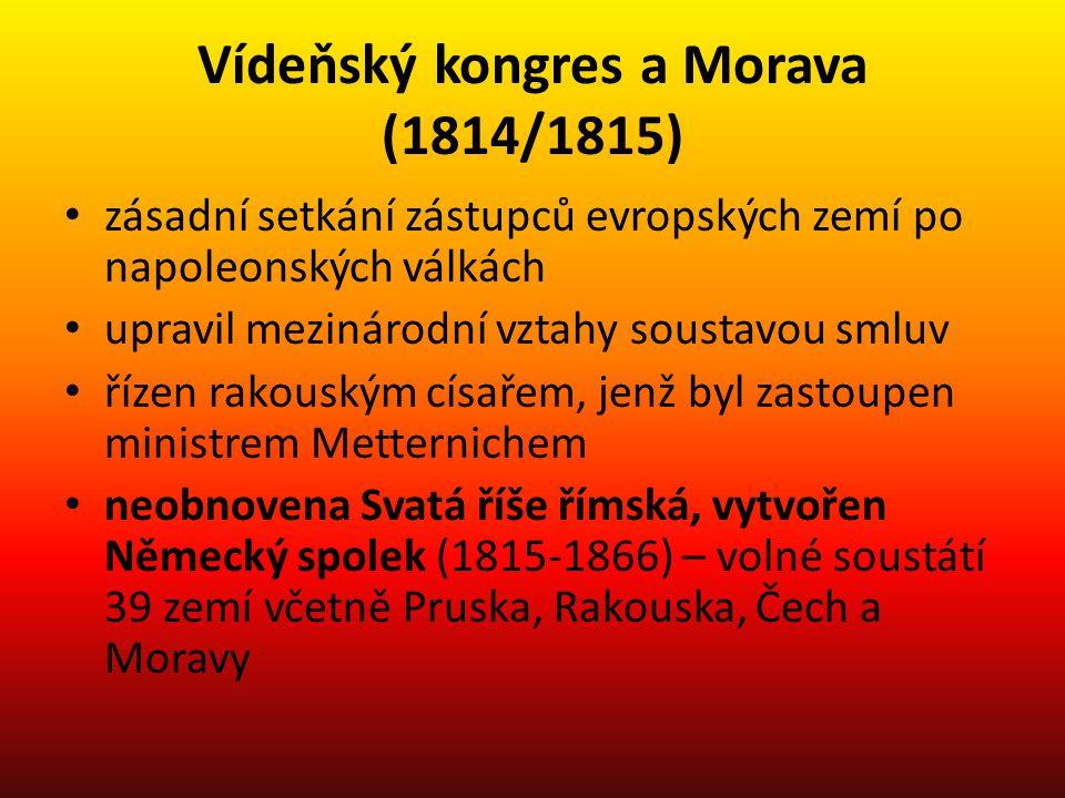 Vídeňský kongres a Morava (1814/1815)