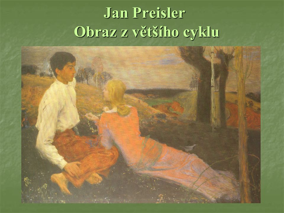 Jan Preisler Obraz z většího cyklu