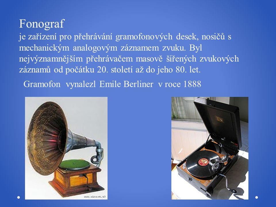 Fonograf je zařízení pro přehrávání gramofonových desek, nosičů s mechanickým analogovým záznamem zvuku. Byl nejvýznamnějším přehrávačem masově šířených zvukových záznamů od počátku 20. století až do jeho 80. let.