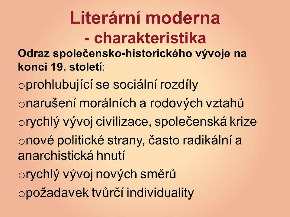 Literární moderna - charakteristika