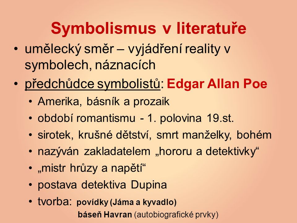 Symbolismus v literatuře