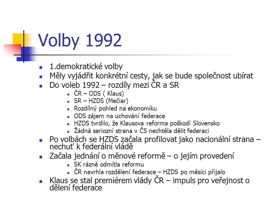 Volby 1992 1.demokratické volby