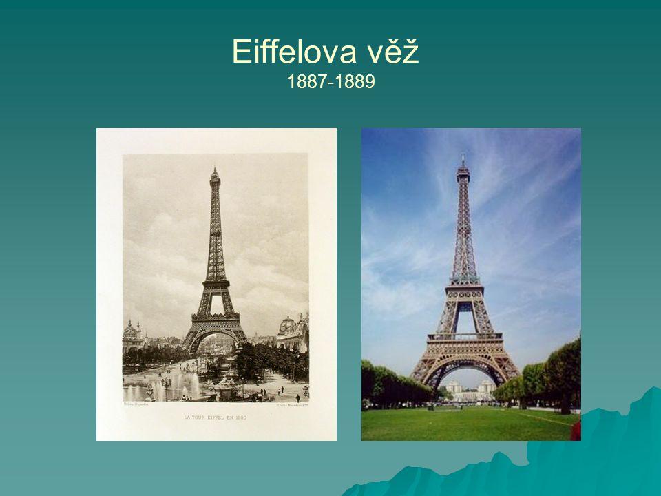 Eiffelova věž 1887-1889