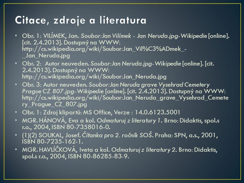 Citace, zdroje a literatura