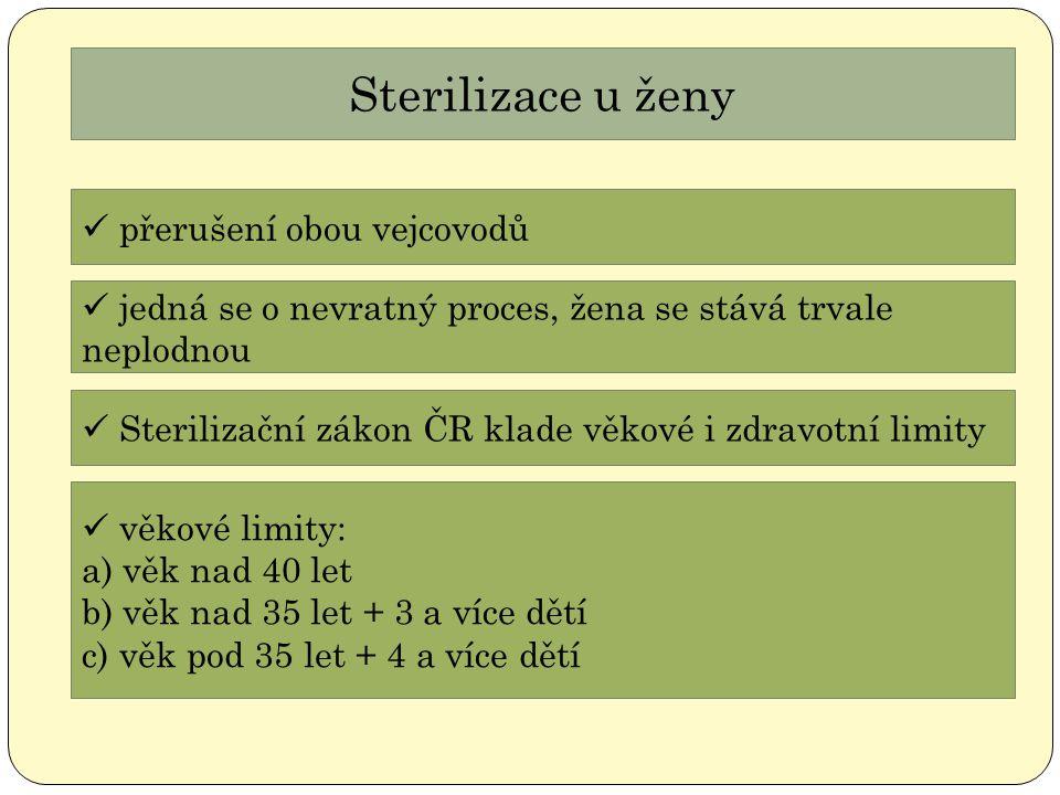 Sterilizace u ženy přerušení obou vejcovodů