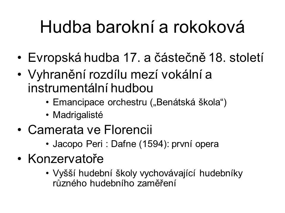 Hudba barokní a rokoková