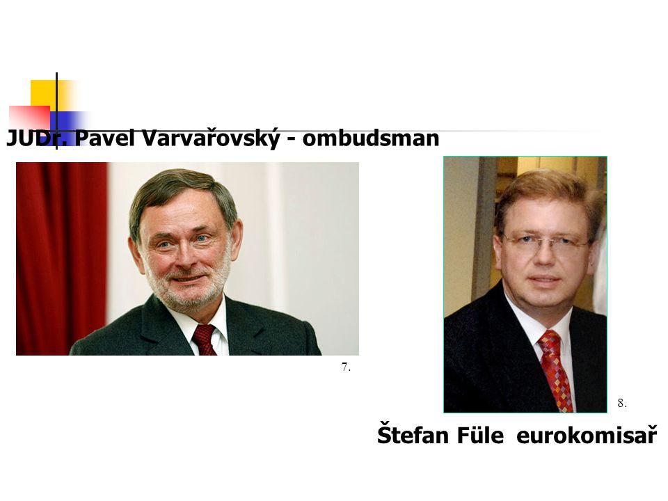 JUDr. Pavel Varvařovský - ombudsman