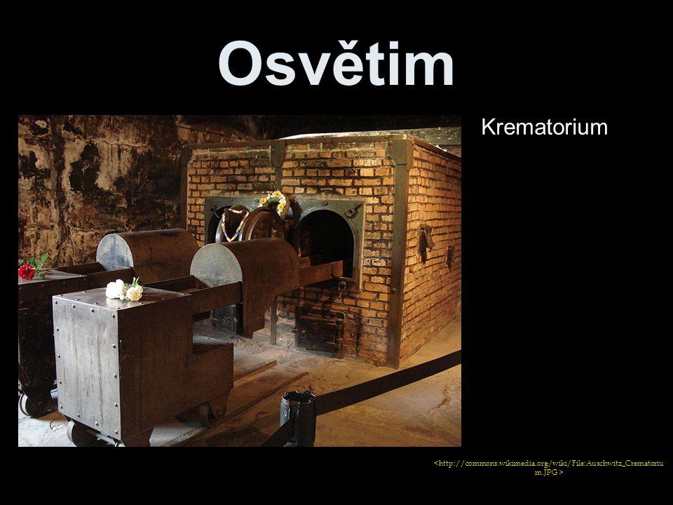 Osvětim Krematorium <http://commons.wikimedia.org/wiki/File:Auschwitz_Crematorium.JPG >