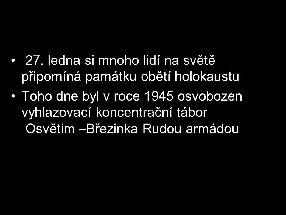 27. ledna si mnoho lidí na světě připomíná památku obětí holokaustu