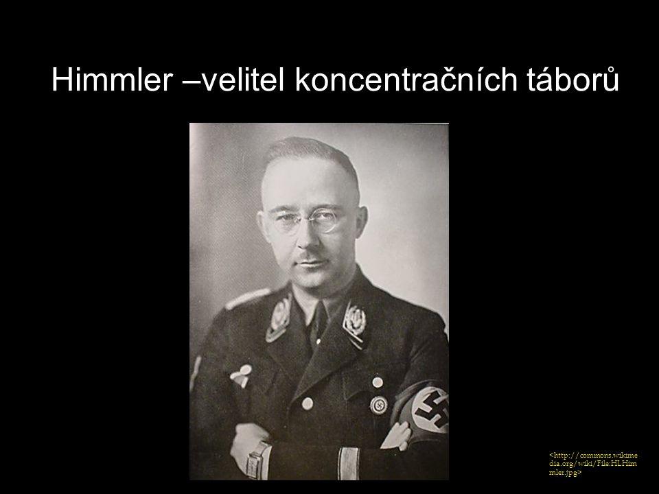 Himmler –velitel koncentračních táborů