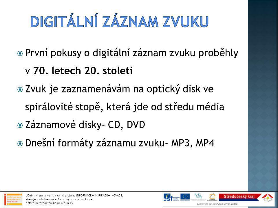 Digitální záznam zvuku