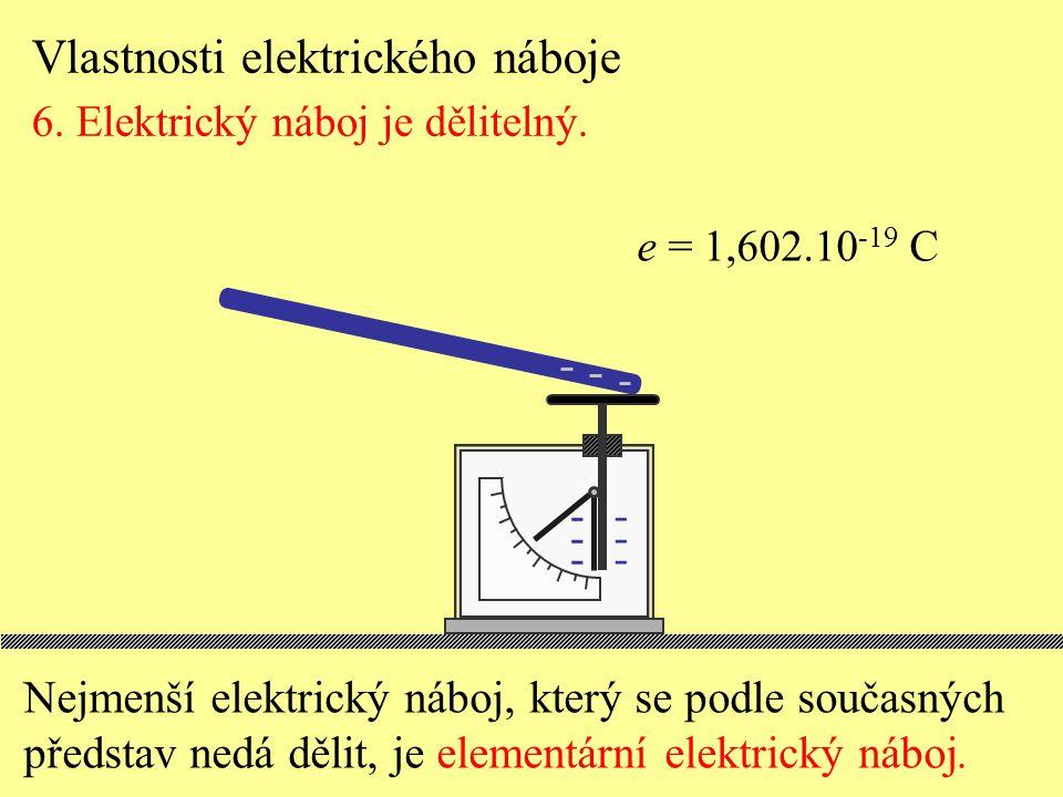 Vlastnosti elektrického náboje