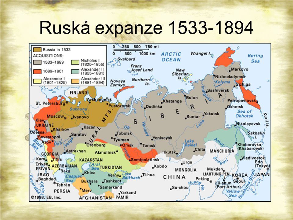Ruská expanze 1533-1894